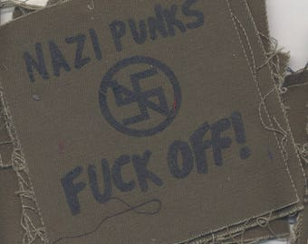 Nazi Punks Fuck Off! Patch
