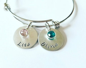 Mother's Bracelet,Personalized Name Bangle