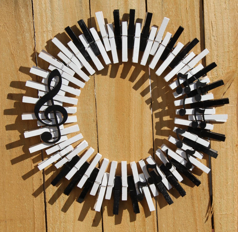 Music Wreath Piano Keys Wreath Musical Notes Treble Clef
