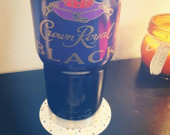 Crown royal|liquor|custom|yeti|rtic|ozark trail|Paisley Mae|paint|seal|royal|Crown|insulated cup|travel mug|stainless steel