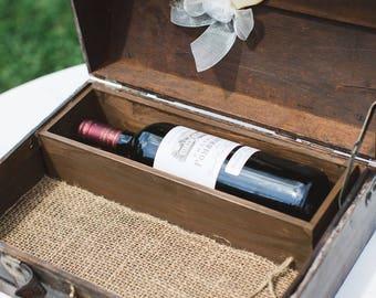 Anniversary Wine Box - Wine Box Ceremony - Wedding Card Trunk - Wine box - First Fight Box - Wedding Gift