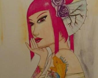 Geisha's Contempt - Art Print