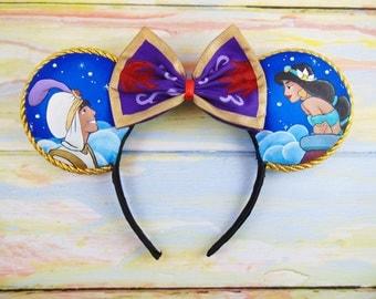 Aladdin and Jasmine Balcony Ears (hand painted)