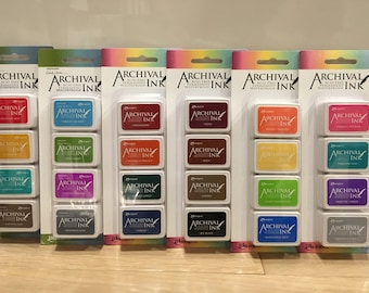 Ranger Mini Archival Ink Pads Kit (COMPLETE SET) with Wendy Vecchi- Free US Shipping