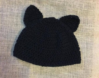 Black cat hat (All sizes available)