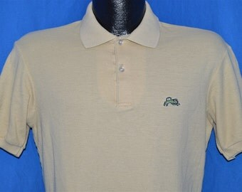 80s Garan Beige Polo Shirt Medium