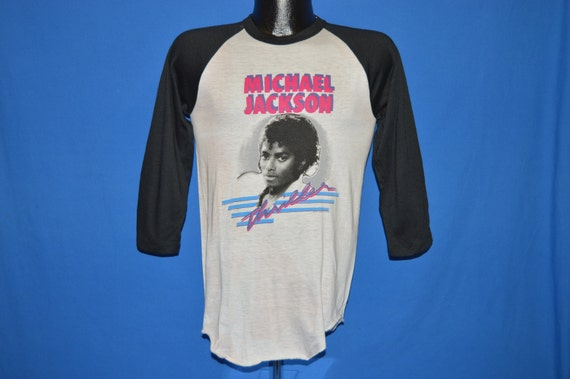 d8a3018e 80s Michael Jackson Thriller Jersey t-shirt by thecaptainsvintage low-cost