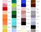 Stained Glass Color Chart for Custom Mosaics