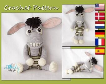 Amigurumi Pattern, Donkey Crochet Pattern, Toy, CP-152