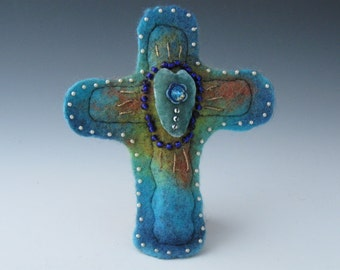 Felted Cross,  Felted Crosses, Cross. Cross Felted, Crosses