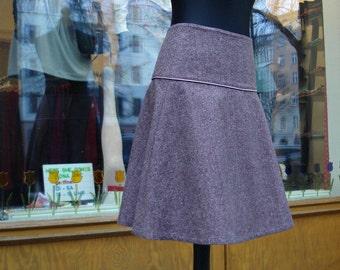 Rock wool skirt in dark pink winter skirt ladies Tweed winter skirt