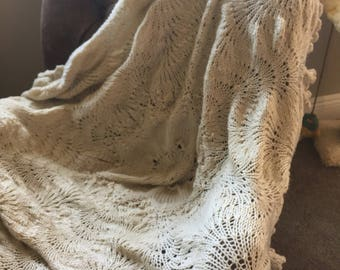 Vintage doily throw-ready to ship