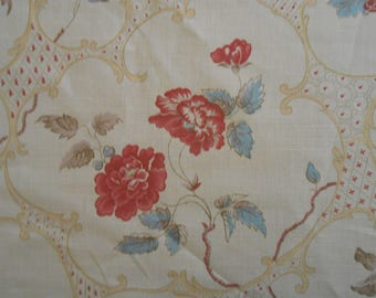"""Hodsoll McKenzie """"INDIAN CARTOUCHE""""  Fabric 1+ yard  Lovely vintage look"""
