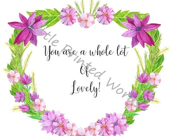 Beautiful floral print