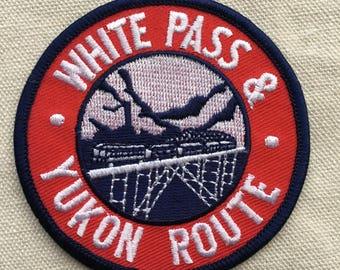 White Pass & Yukon Route Alaska Railroad Vintage Souvenir Travel Patch