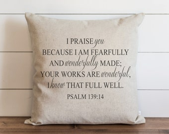 I Praise You 20 x 20 Pillow Cover // Everyday // Throw Pillow // Gift // Accent // Cushion Cover