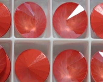 Bead, Swarovski® crystals, Rivoli 14mm - Lt Coral  - 1122: 2pcs