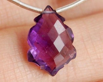 Natural African Amethyst Faceted Fancy Briolette Semi Precious Gemstone Bead