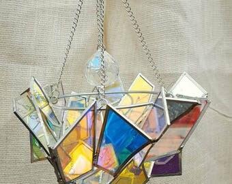 Large Glass Chandelier Suncatcher