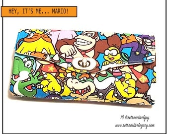 Womens Wallet - Super Mario Wallet - Necessary Clutch Wallet - Yoshi Wallet - Donkey Kong Clutch - Gamer Wallet - Gifts for Girls