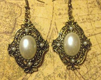 Margarita's Charm Pearl Earrings