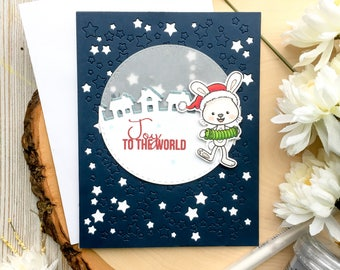 Christmas Card, Handmade Cards, Holiday Card, Happy Holidays, Stars, Merry Christmas, Christmas Cards, Bethlehem Star, Carols, Santa Hat