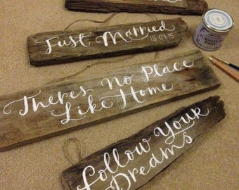 Custom driftwood sign, rustic wood sign, wedding sign, new home sign