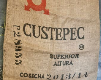Large Jute Coffee Sack-  Custepec p28955
