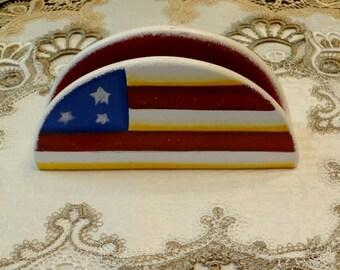Fourth Of July Napkin Holder, Patriotic  Decor, Table Decor, Summer  Decor, Kitchen Decor, Home Decor,