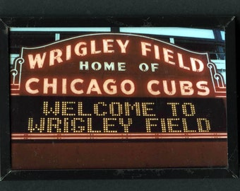 Wrigley Field. Chicago Cubs, vintage magnet