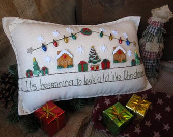 It's Beginning to Look a Lot Like Christmas Pillow (Cottage Style)