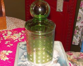 vintage libby medical cotton jar