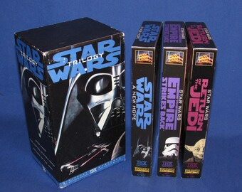 STAR WARS Trilogy VHS Tapes Set of 3 Digitally Mastered 1990
