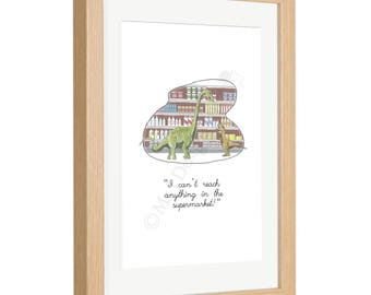 I Can't Reach Anything in the Supermarket! Framed Print Customisable