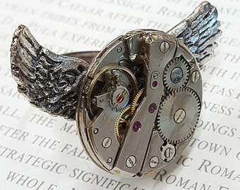 Angel Wings -Steampunk ring-
