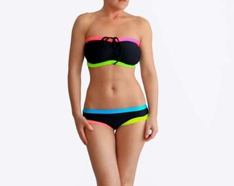 Black DDD Bikini, Bathing Suits Women, Plus Size Swimwear, Big Boobs Swimsuit, Designer Bikini, Curvy Bathing Suit, Swim Suit for Women