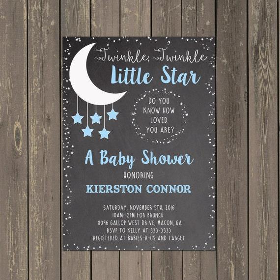 Moon and stars baby shower invitation little star shower invitation il570xn filmwisefo
