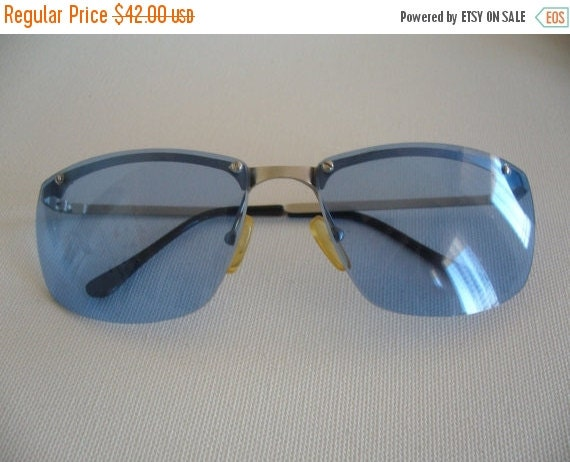Big Blue Glasses Frames : BIG SALE Blue lense eyeglasses/ Infinity eye by ...
