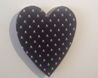 Upcycled decorative cardboard heart  *SAMPLE SALE!*