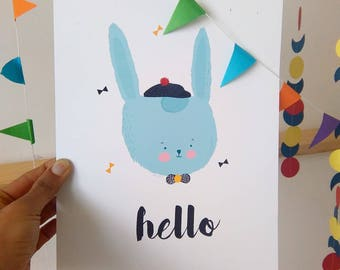 Print- Hello Mister Bunny-