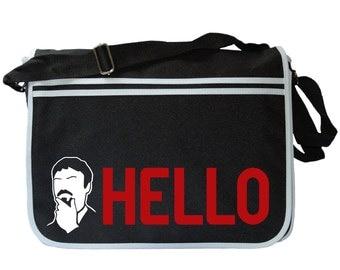 Ashens Big HELLO Black Messenger Shoulder Bag
