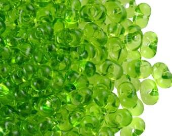 20gr PRECIOSA Farfalle™ beads 3.2x6.5mm, OlivineTransparent (FF014)
