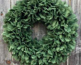 St. Patricks Day Wreath, St Patricks Day Decorations, St Patricks Day Burlap Wreath, St Patricks Day Wedding, St Patricks Rag Wreath