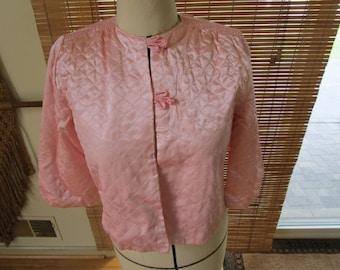 Vintage Pink Bed Jacket