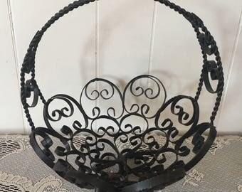 Wrought Iron Baskets Etsy