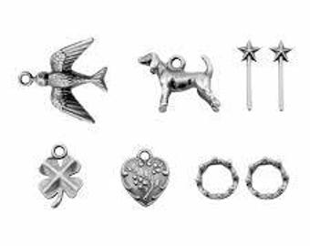 Tim Holtz Idea-ology ADORNMENTS - TREASURES Metal embellishments 1.cc1x