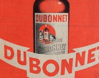 Original Vintage French Advert DUBONNET 1940s