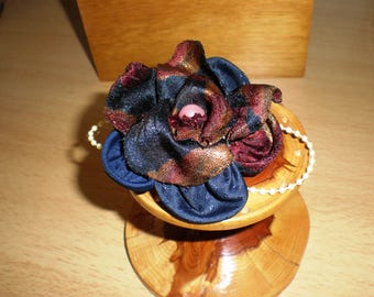 SILK FLOWER Hair Slide - Hand Crafted from up-cycled silk
