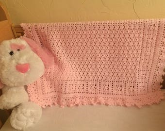 Delicate Pink Baby Blanket