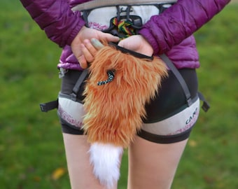 Crimp Chimps Original Fox Tail Chalk Bag